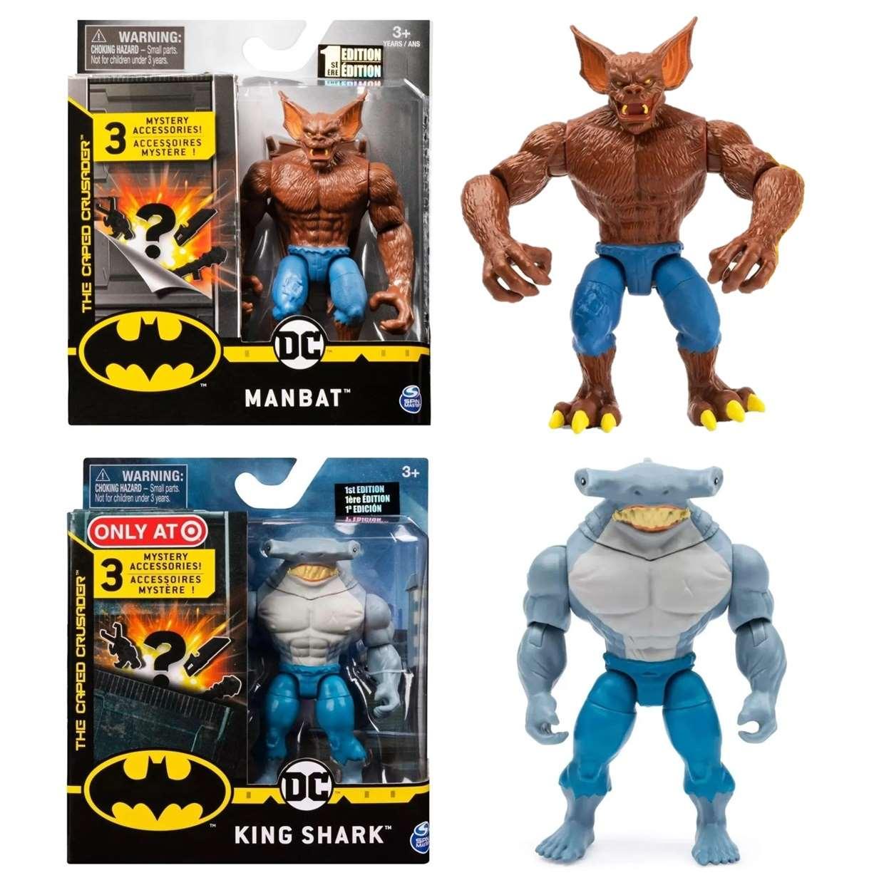 Pack King Shark + Man Bat The Caped Crusader Spin Master