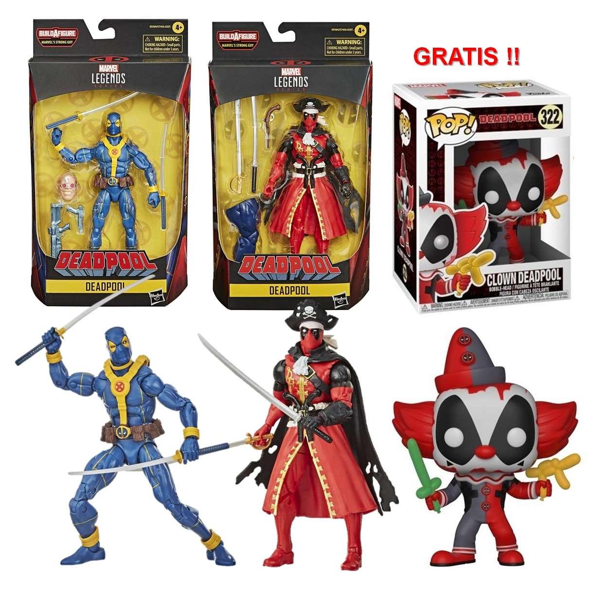 Deadpool Pirata,deadpool Blue Legends + Deadpool #322 Gratis