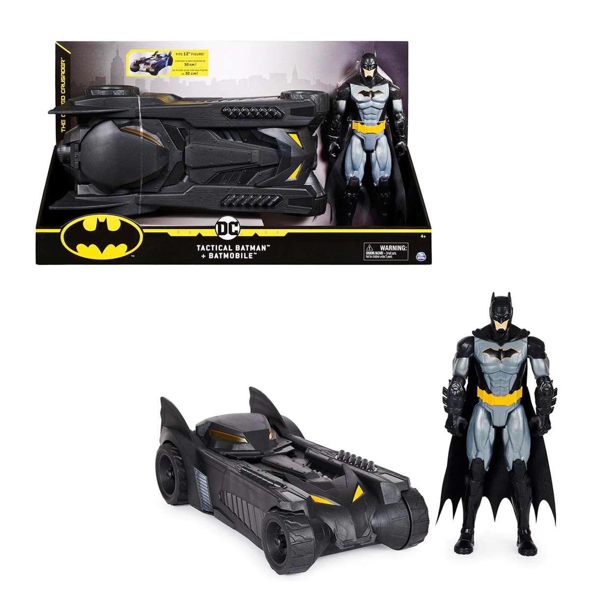 Pack Tactical Batman + Batmobile Figura The Caped Crusader