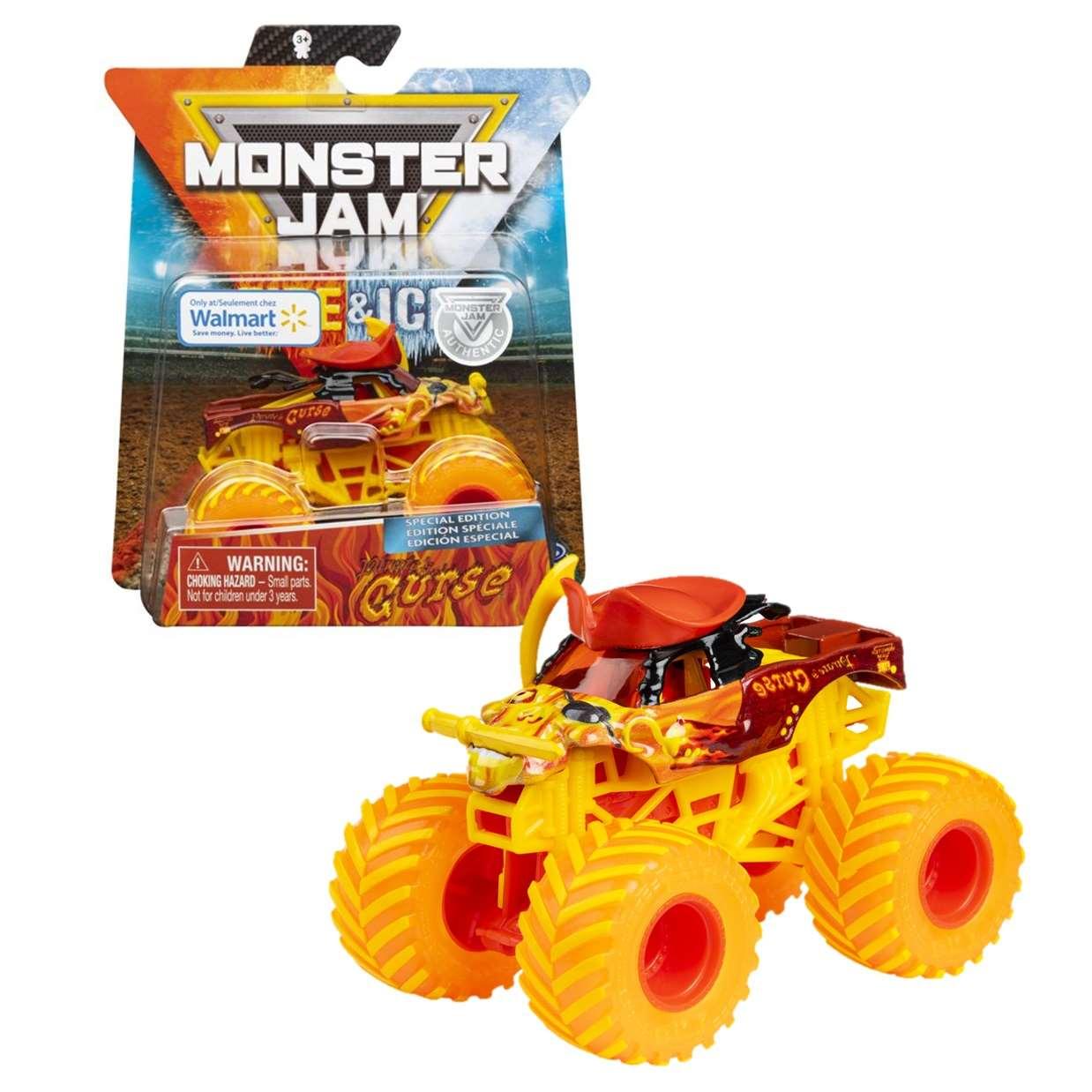 Pirates Curse 1/64 Monster Jam Fire & Ice Exclusivo Walmart