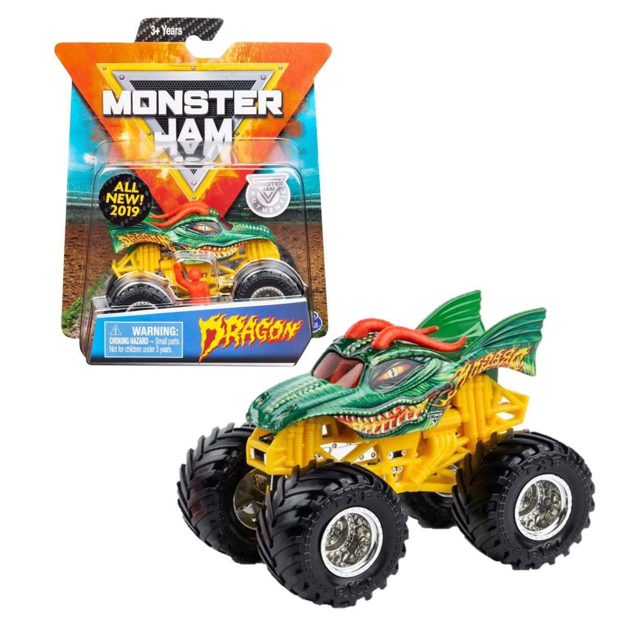 Dragon All New 2019 1/64 Monster Jam Authentic Spin Master