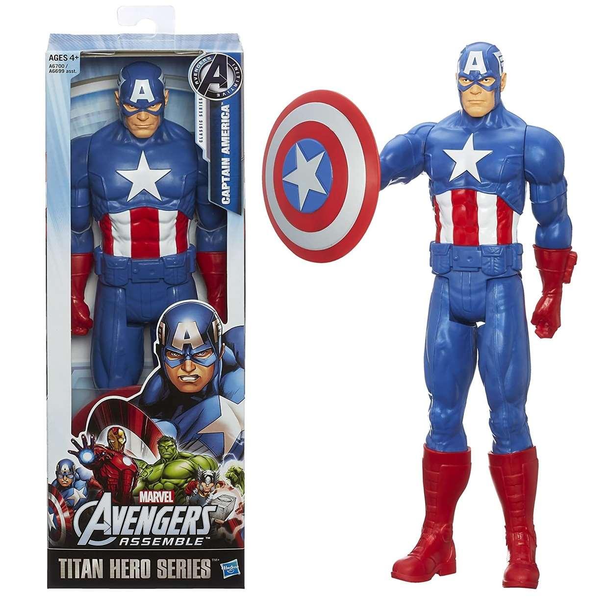 Capitán América Figura Avengers Assemble Titan Hero 12 Pulg