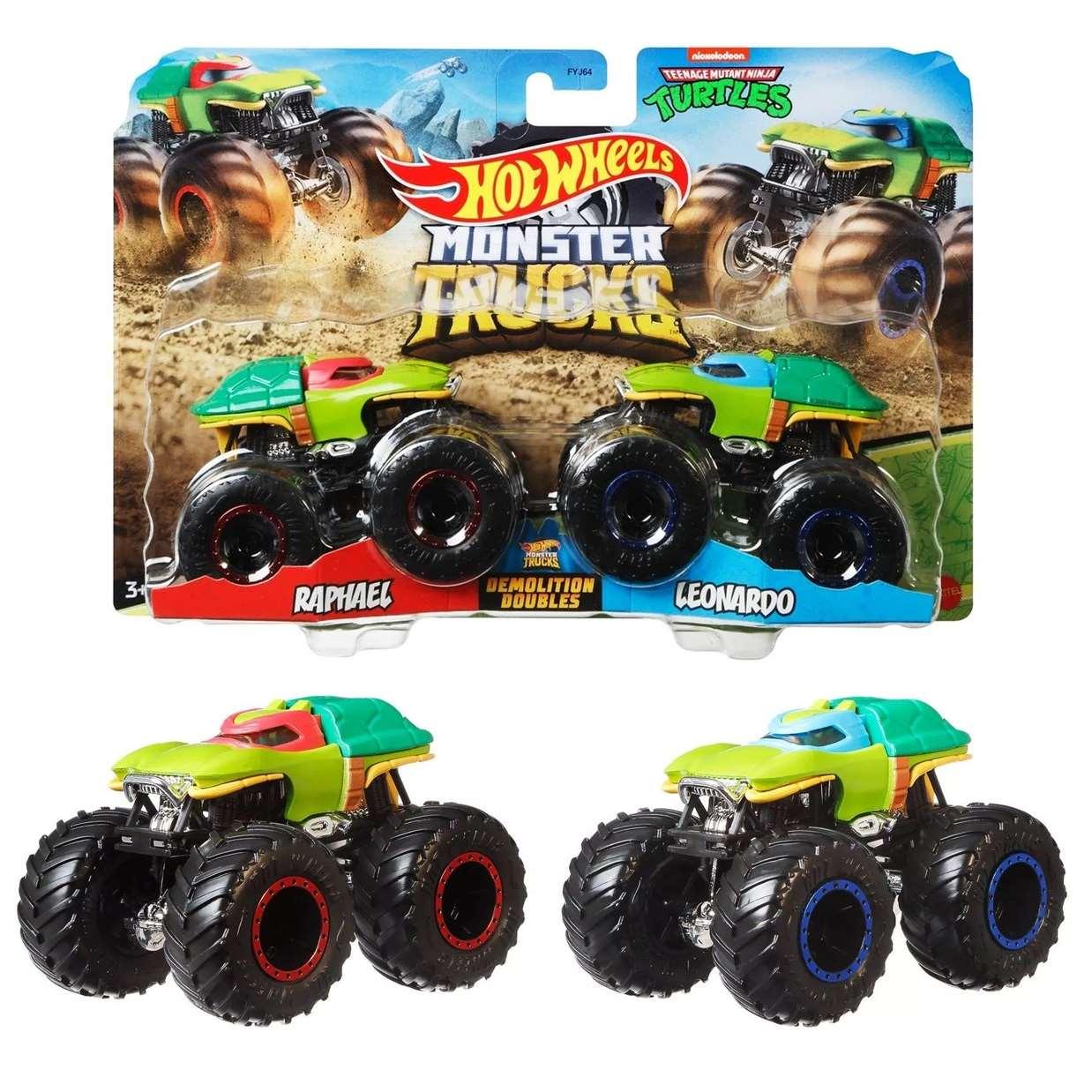 Hot Wheels Monster Trucks Demolition Doubles Raphael And Leonardo