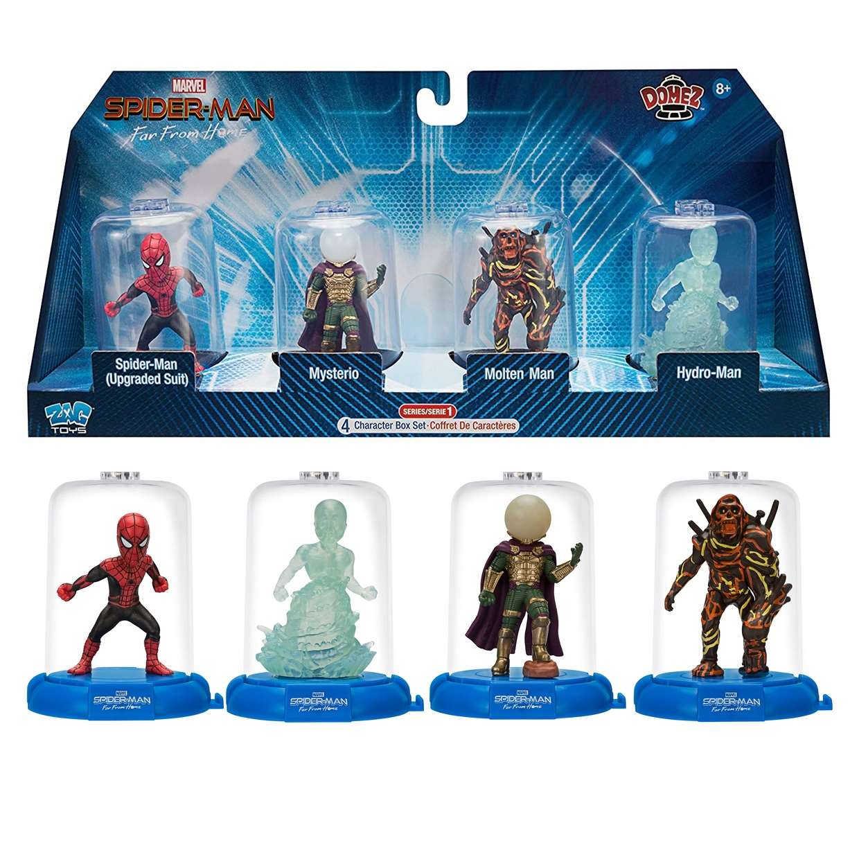 Paquete 4 Figurillas Spider Man Far From Home Domez Zag Toys