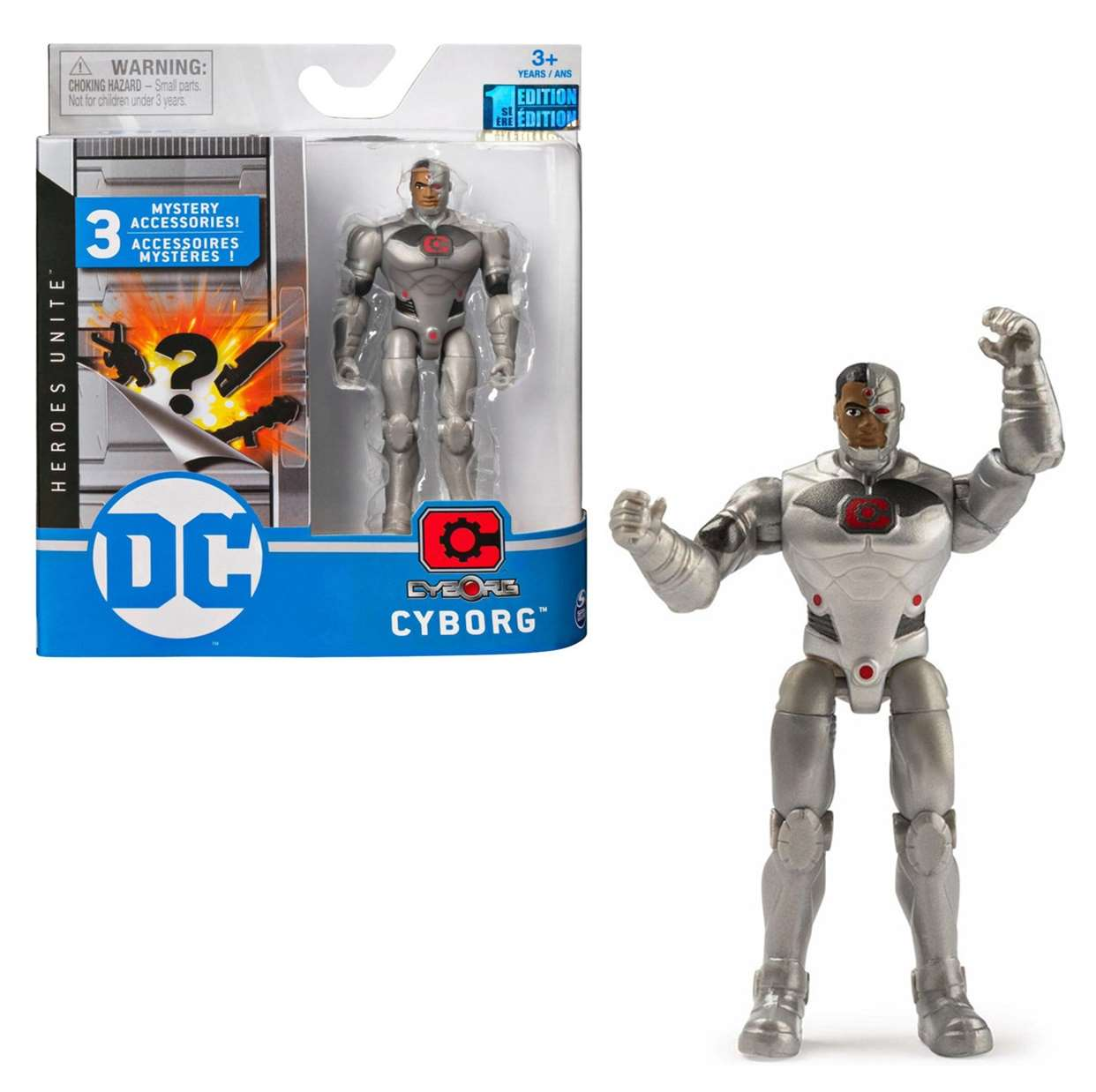 Cyborg 1st Edition Figura Dc Heroes Unite Spin Master
