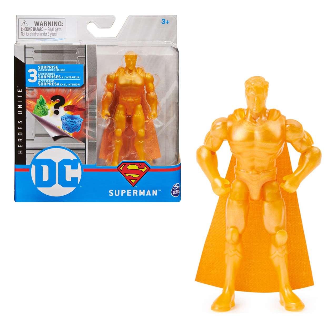 Superman Rare Gold Figura Dc Super Heroes Unite 3 PuLG