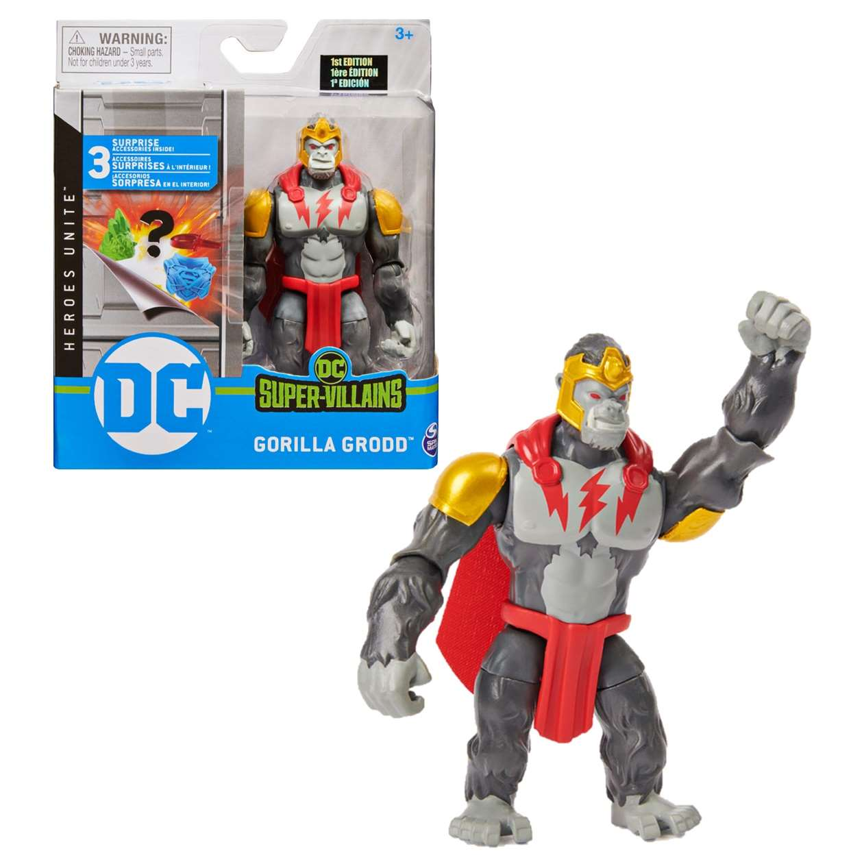Gorilla Grodd Figura Heroes Unite Super Villains Spin Master