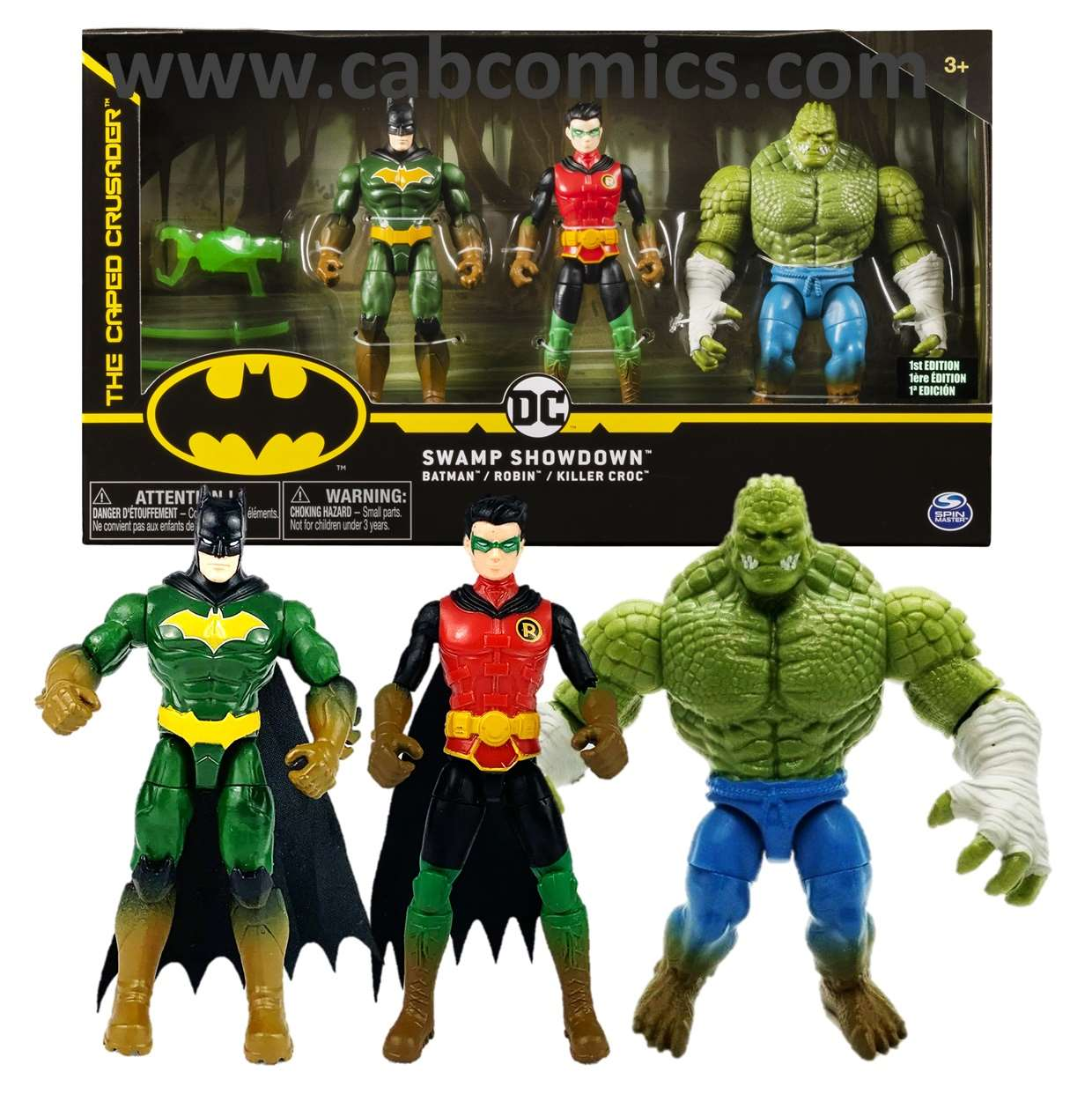 Pack Swamp Showdown Batman, Robin Y Killer Croc Spin Master