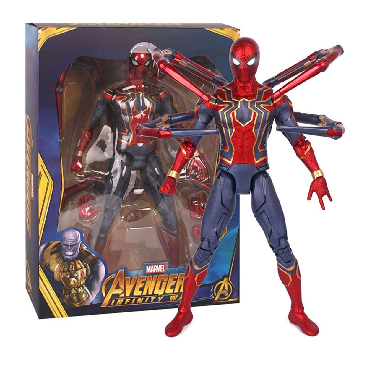 Iron Spider Figura Avengers Infinity War Con Luz Led 15 PuLG
