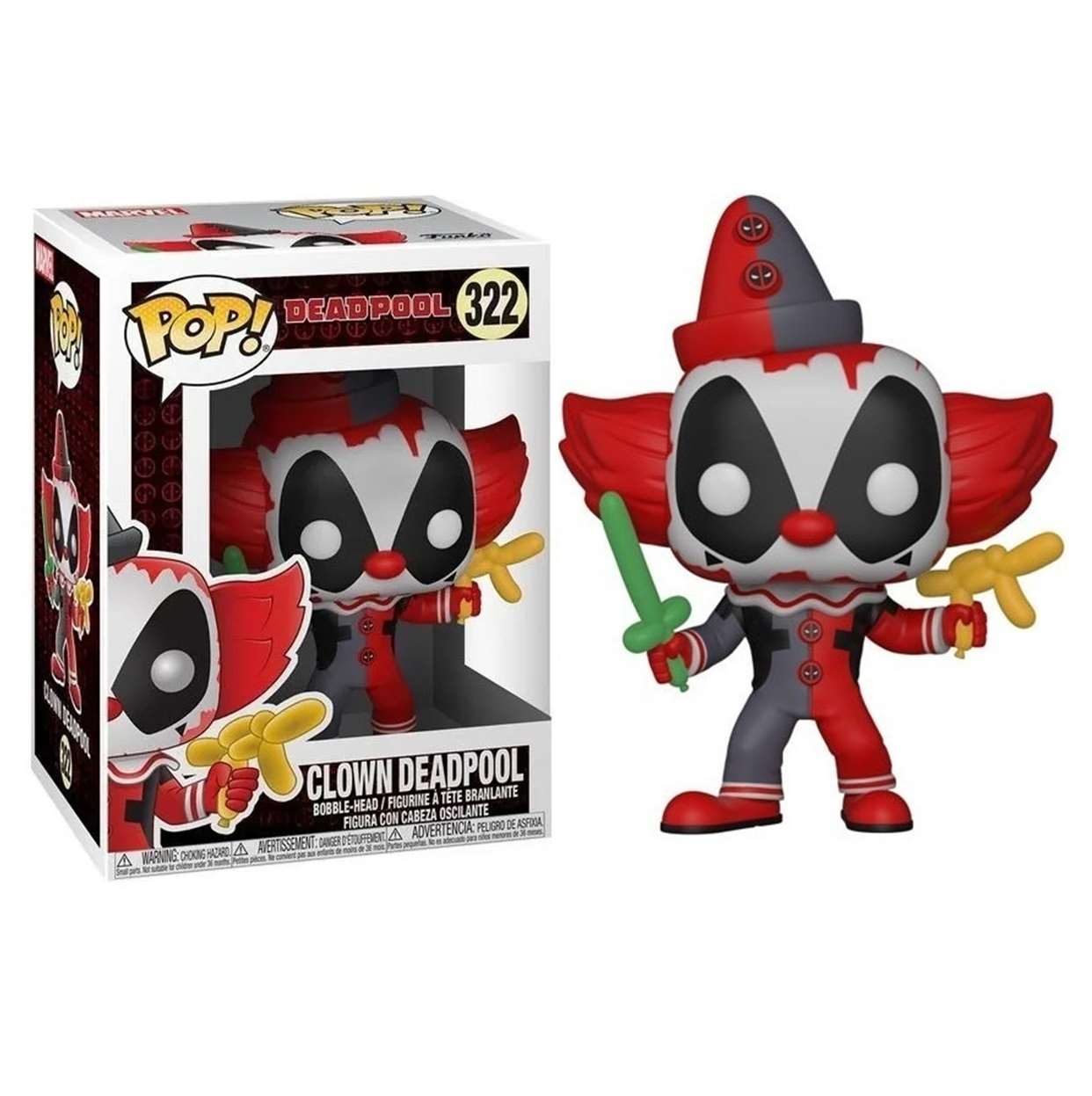 Deadpool Clown #322 Marvel Figura Funko Pop!