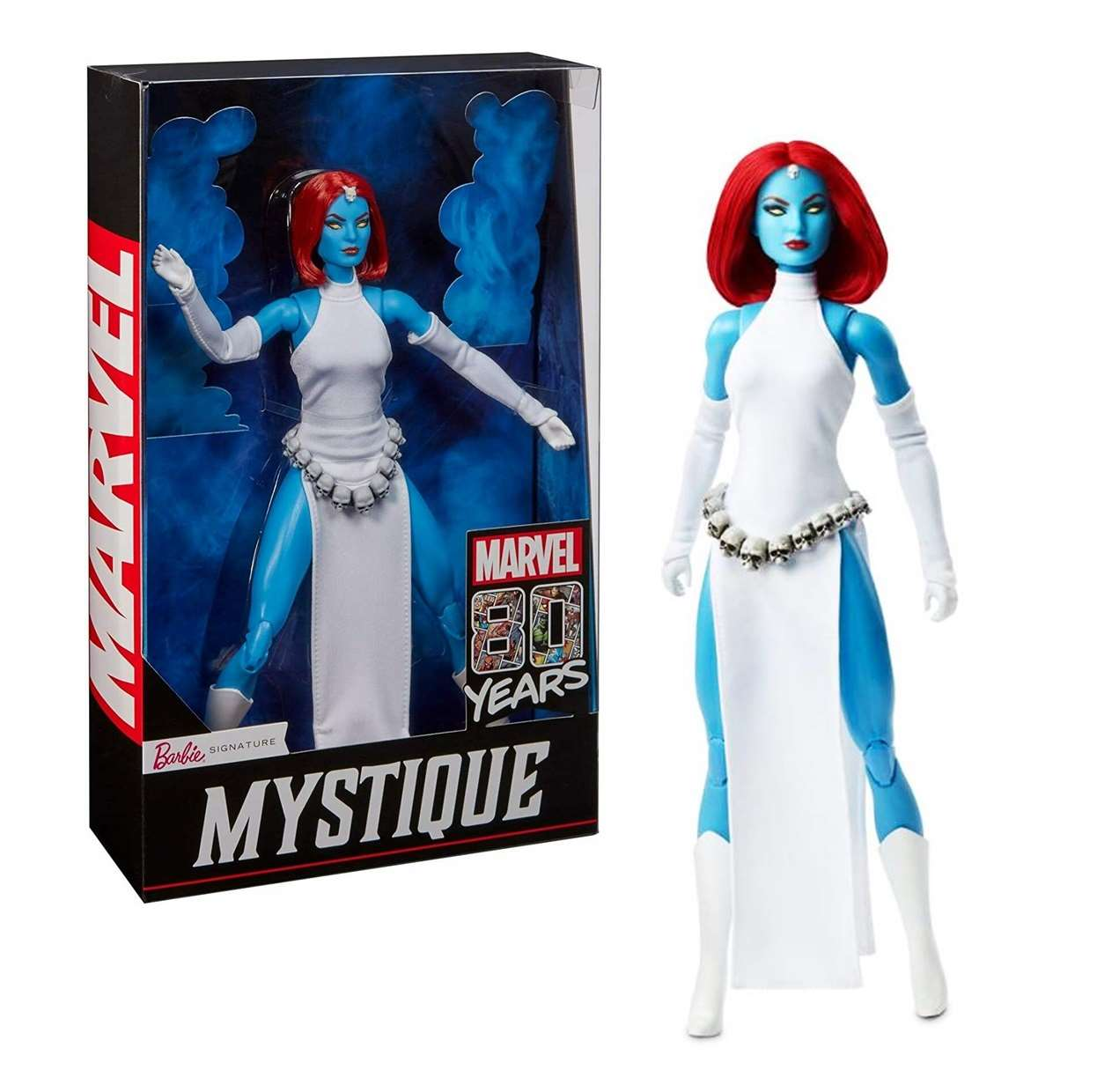 Mystique Doll Figura Barbie Signature Marvel 80th Years