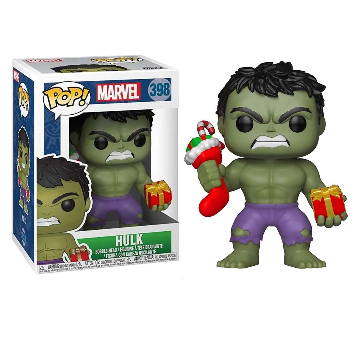 Hulk Navideño #398 Figura Marvel Funko Pop!