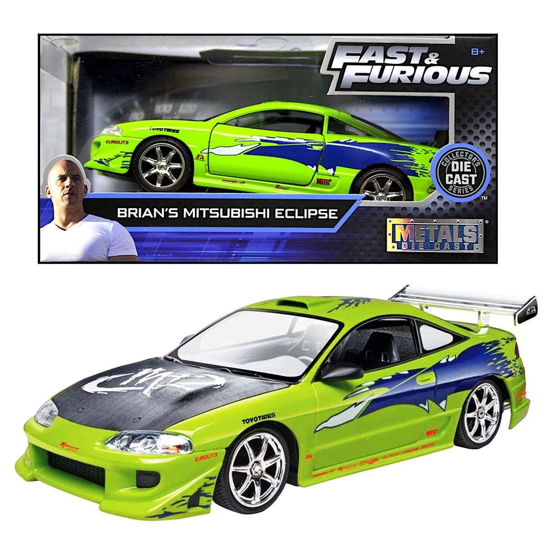 Brian's Mitsubishi Eclipse 1/24 Fast & Furious Jada Toys Metal Die Cast