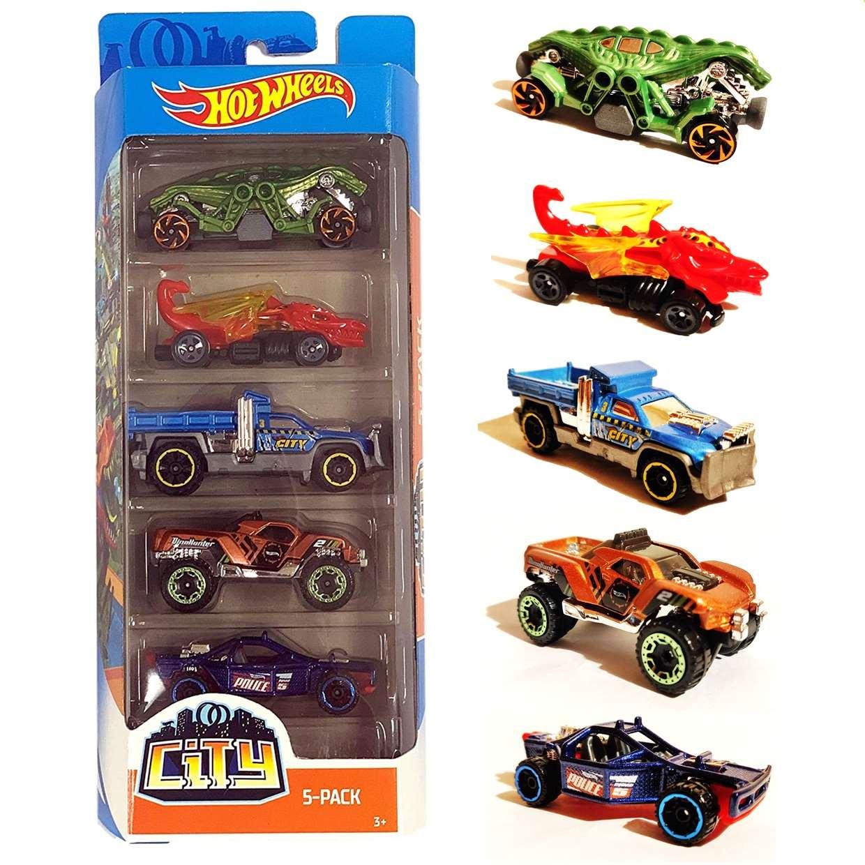 Hot Wheels 5 Pack Dino City Fyl25 Mattel