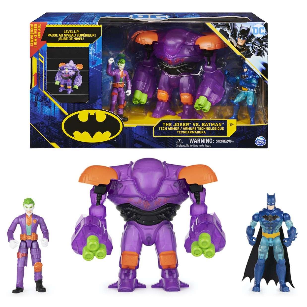The Joker vs Batman 1st Edition Tech Armor Spin Master 4 Pulg