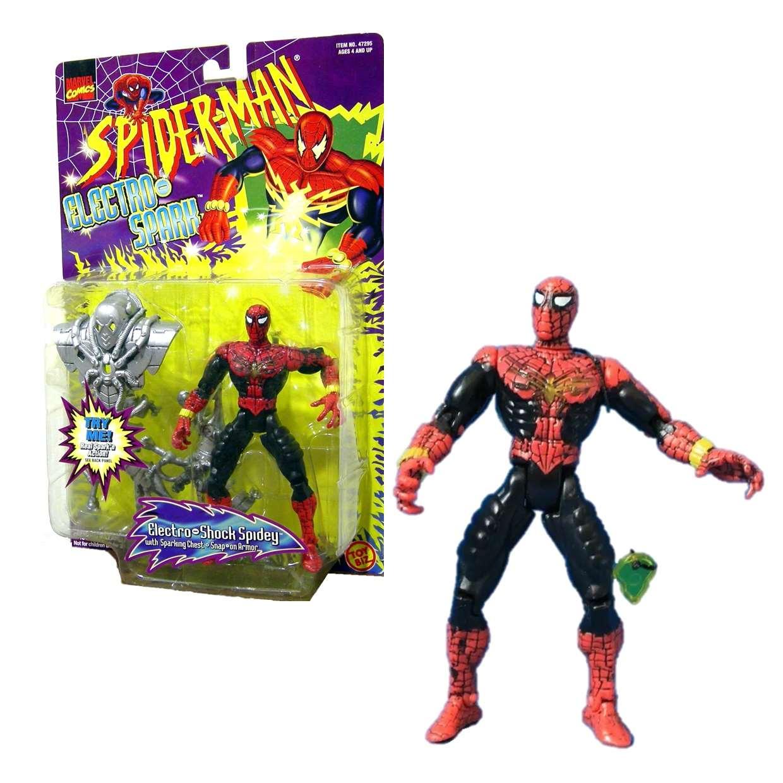 Electro Shock Spidey 1996 Spider Man Electro Spark Toybiz