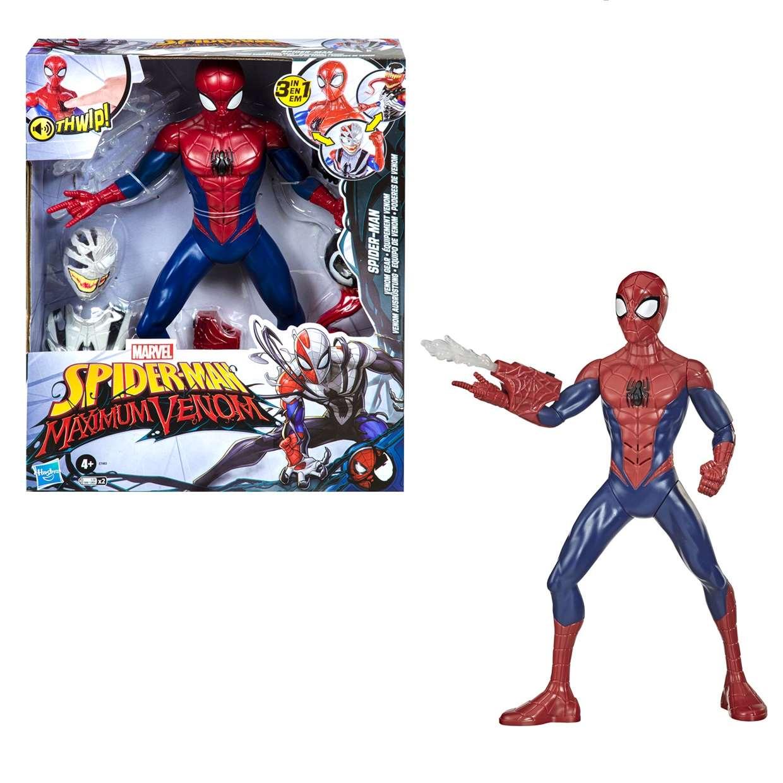 Spider Man Venom Gear 3 En 1 Figura Spider Man Maximum Venom