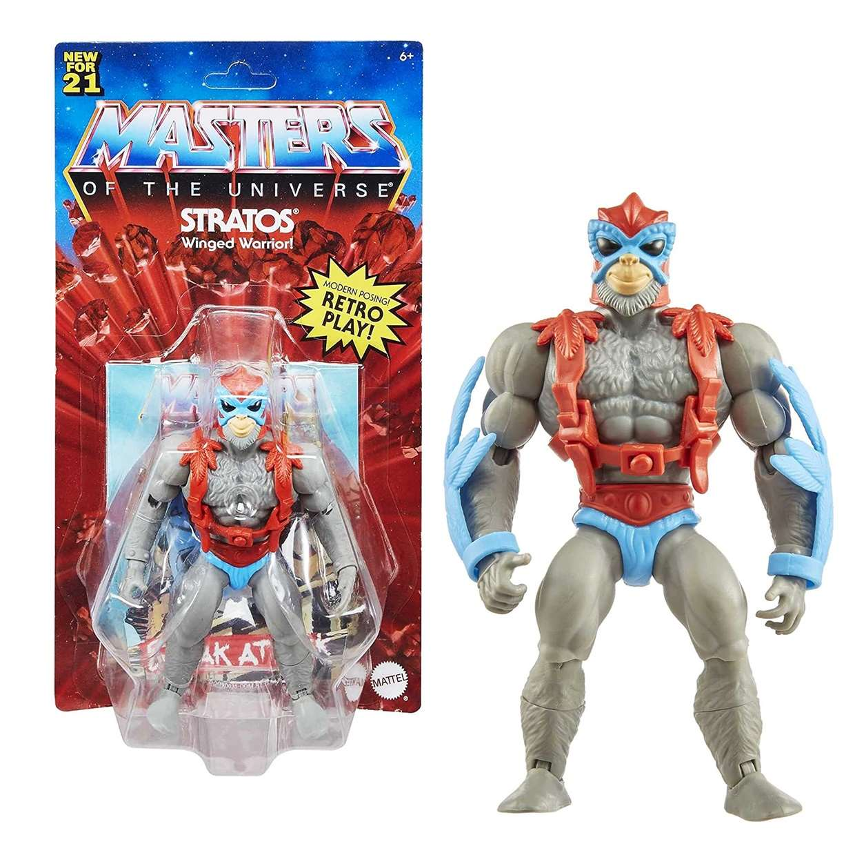 Stratos Reto Play Figura Masters Of The Universe New For 21
