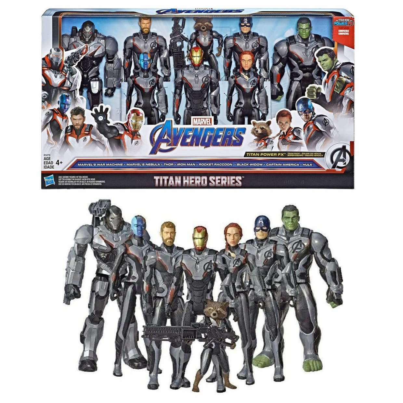 Pack De 8 Figuras Avengers End Game Titan Hero Series 12