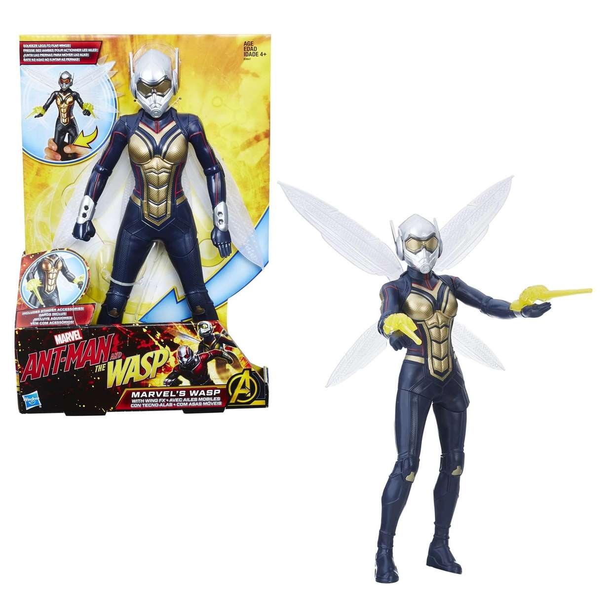 Wasp Con Sonidos Figura Marvel Ant Man And The Wasp Movie