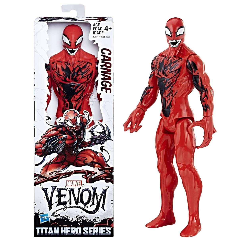 Carnage Figura Marvel Venom Titan Hero Series Hasbro 12 PuLG