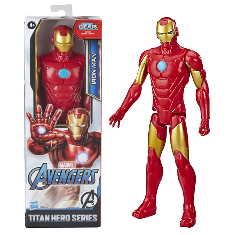 Iron Man Figura Marvel Avengers Blast Gear Titan Hero 12 Pulg