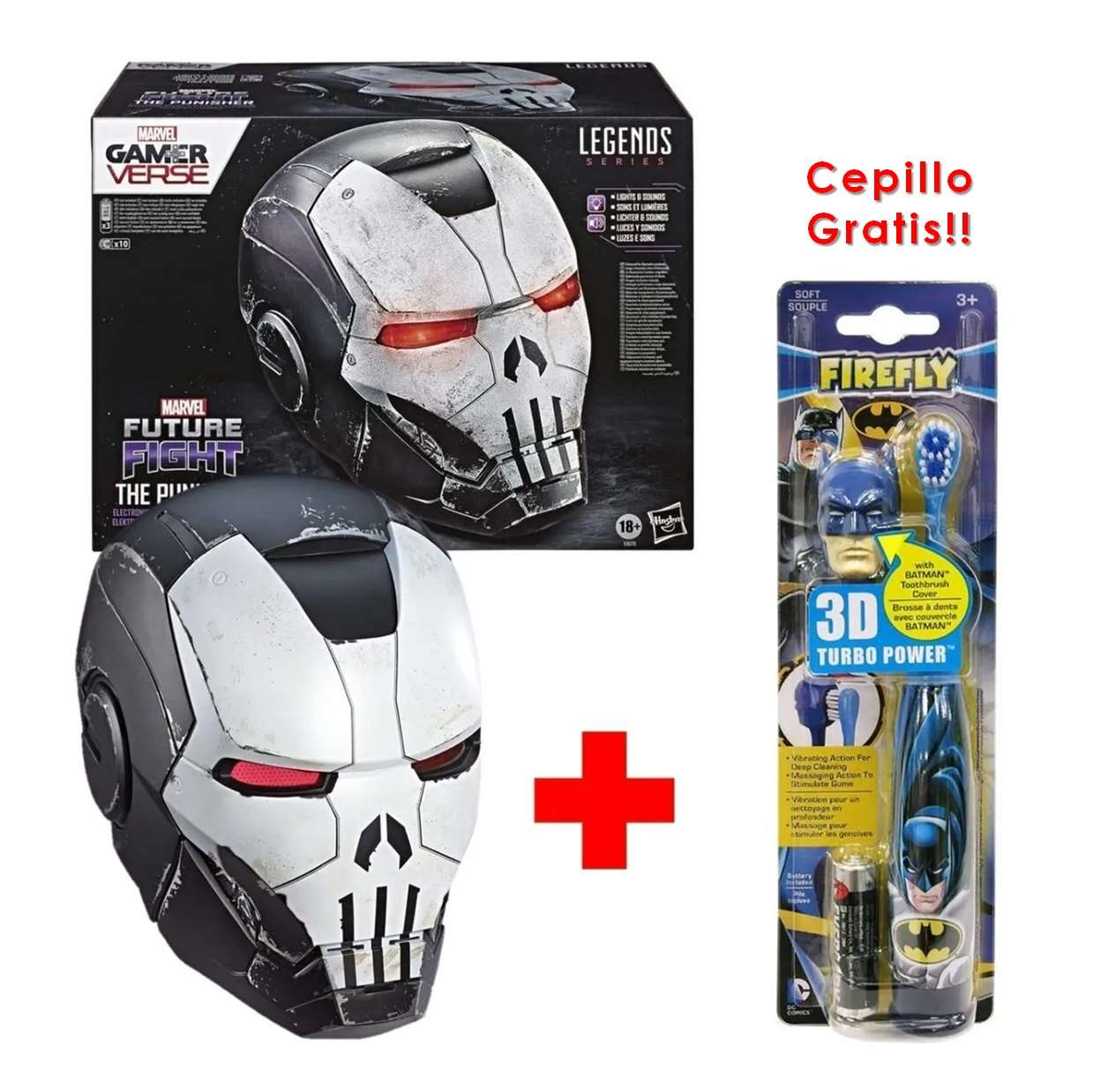 War Machine Punisher Casco Electrónico Marvel Legen + Cepillo GRATIS!!