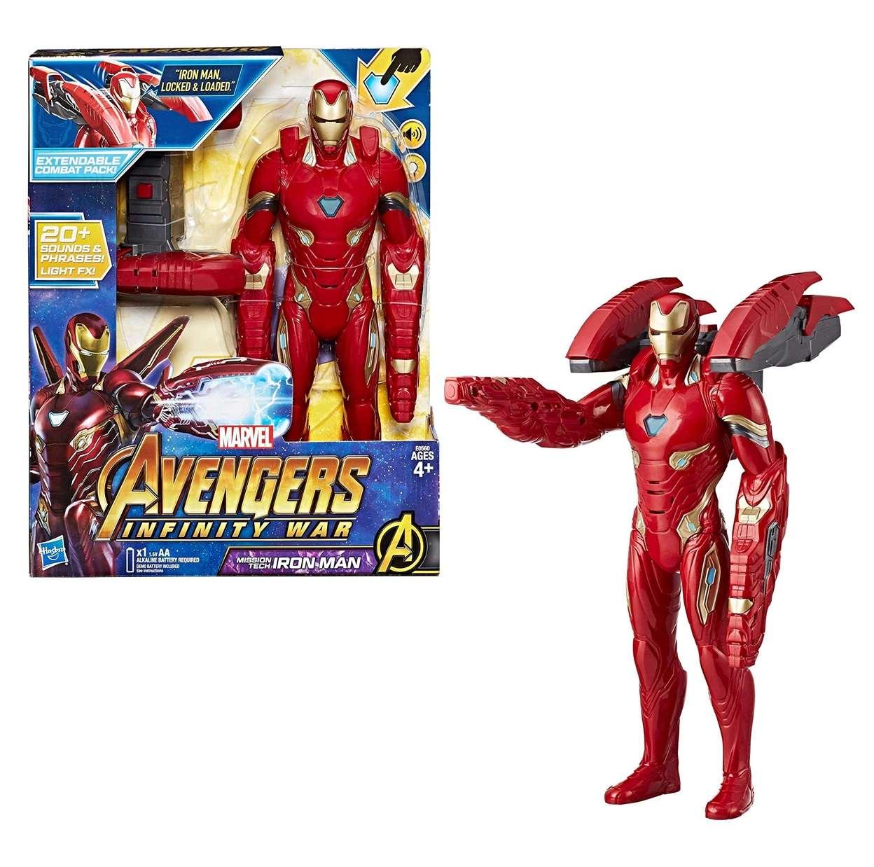 Iron Man Figura Marvel Avengers Infinity War Missions Tech