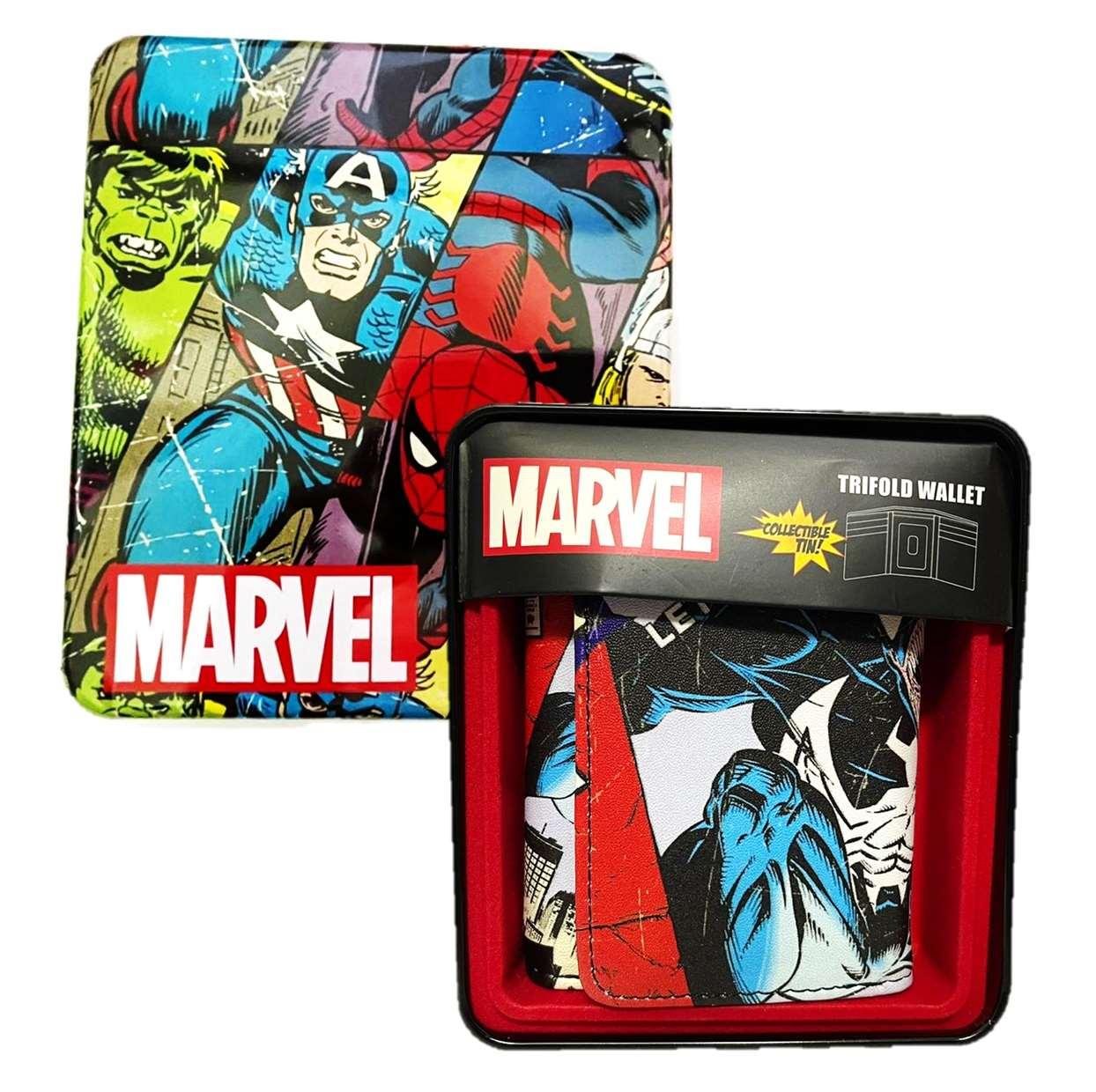 Cartera Vinipiel Ilustración Historietas Marvel Spider Man (Venom)