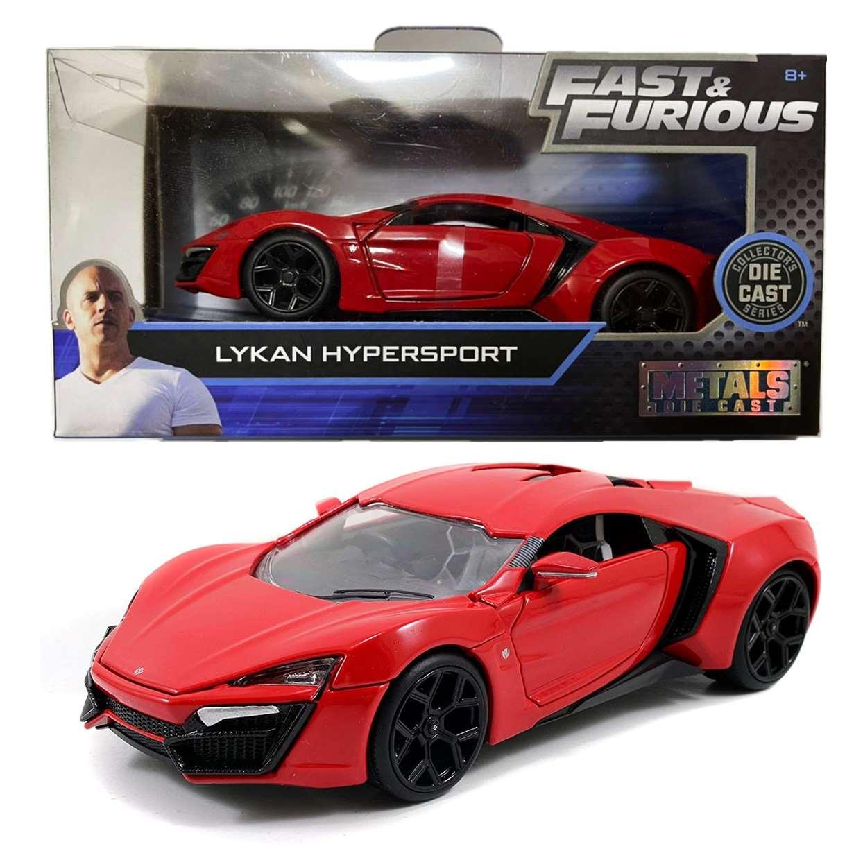 Lykan Hypersport Red 1/32 Fast & Furious Jada Metal Die Cast