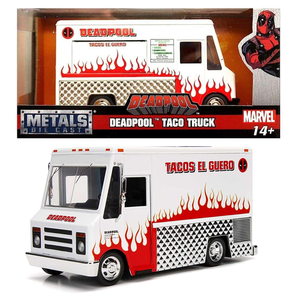 Deadpool Taco Truck White Marvel Metal Die Cast Jada Toys
