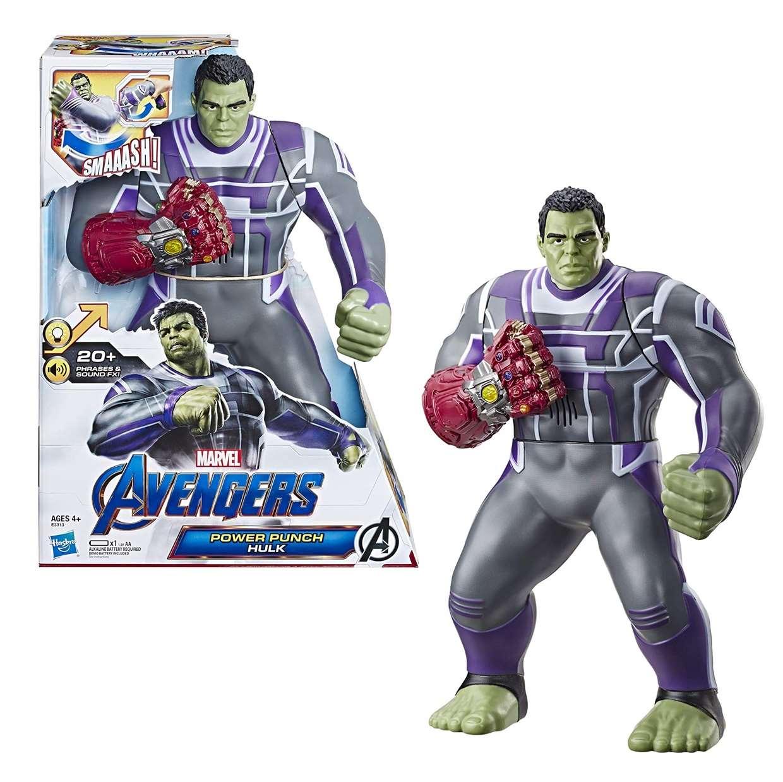 Hulk Power Punch Figura Electrónica End Game C/20 Sonidos