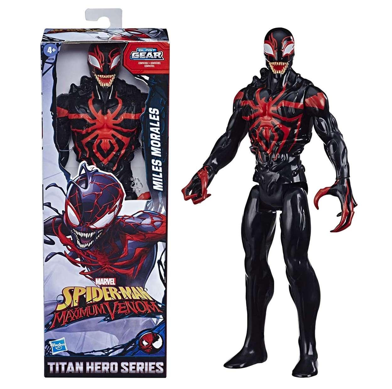 Miles Morales Figura Marvel Maximum Venom Blast Gear 12 PuLG