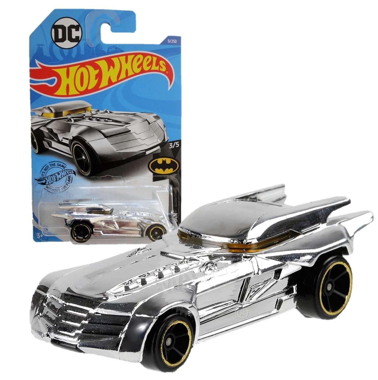 Batmobile Chrome Gray 3/5 Batman Dc Hot Wheels 9/250