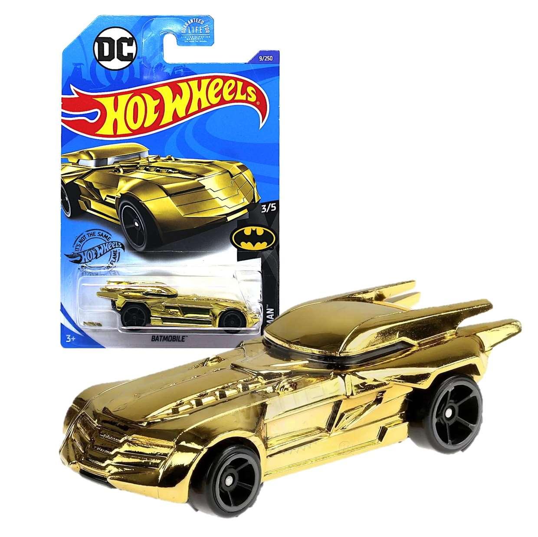 Batmobile Chrome Gold 3/5 Batman Dc Hot Wheels 9/250