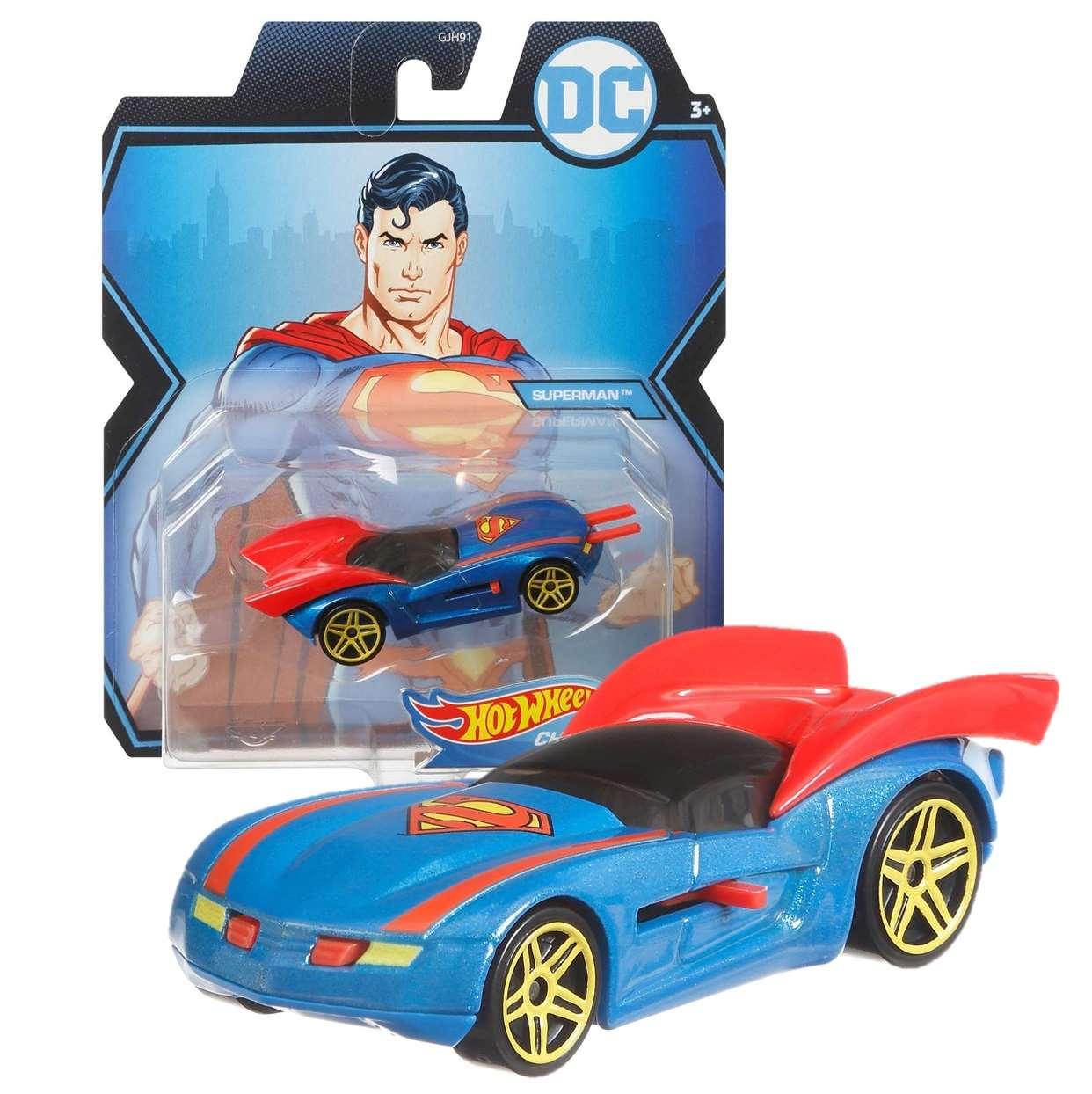 Superman Gmh96 Hot Wheels Character Cars Die Cast
