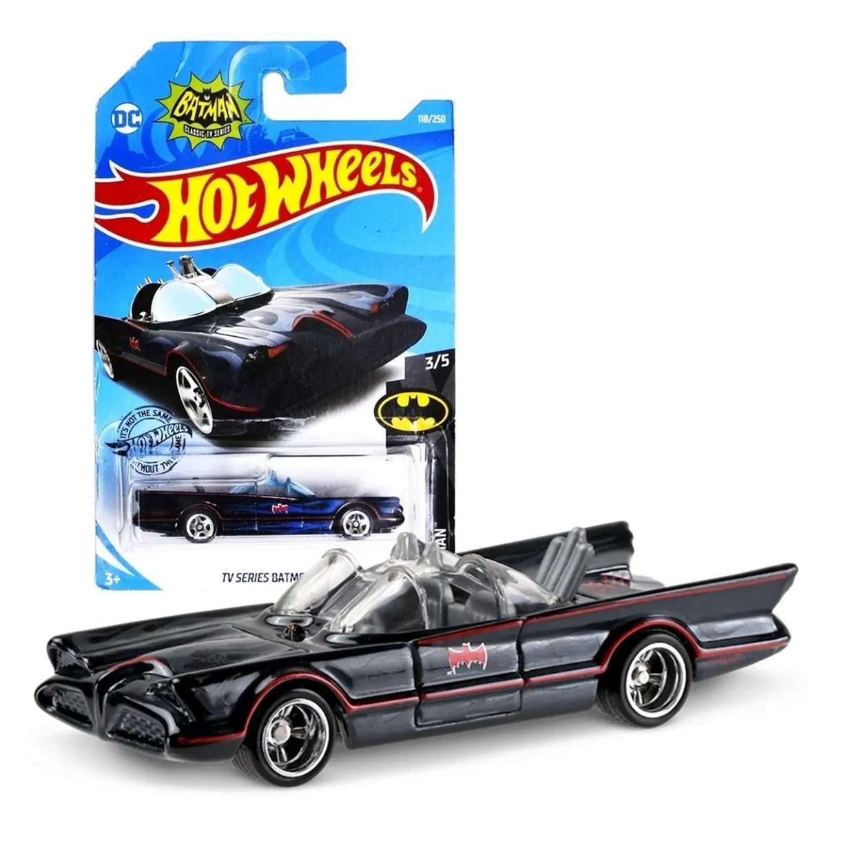 Batmobile 3/5 Batman Tv Series Vehiculo Dc Comics Hot Wheels