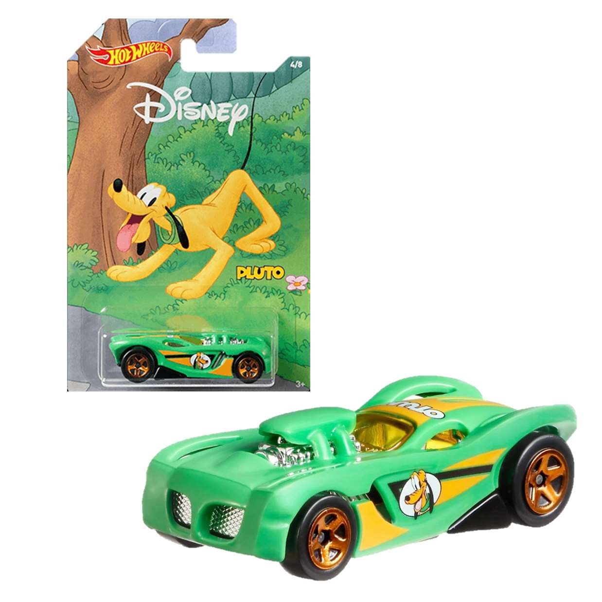 Pluto 16 Angels 4/8 Hot Wheels Disney Mickey And Friends