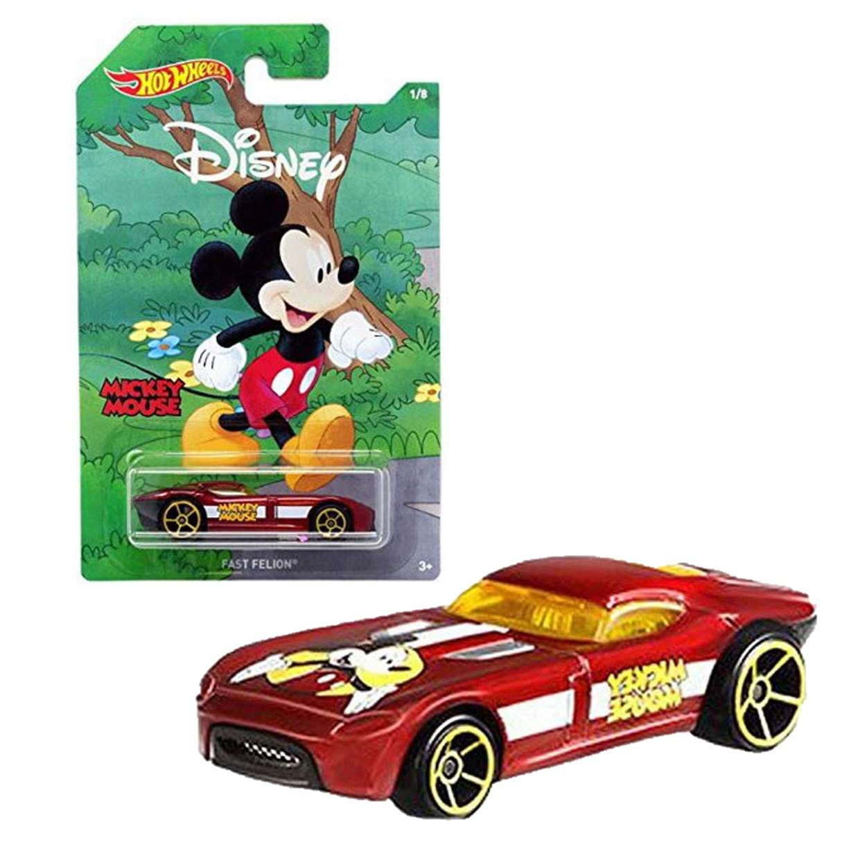 Mickey Mouse Fast Felion 1/8 Hot Wheels Mickey And Friends