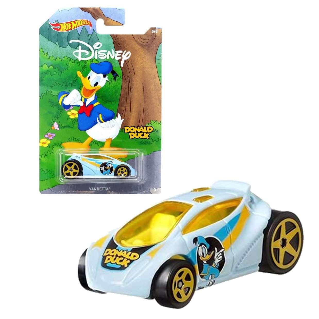 Donald Duck Vandetta 5/8 Hot Wheels Disney Mickey And Friend