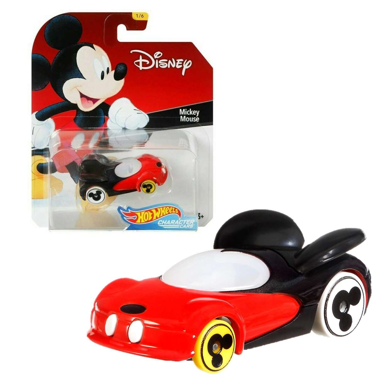 Mickey Mouse 1/6 Hot Wheels Disney Character Cars