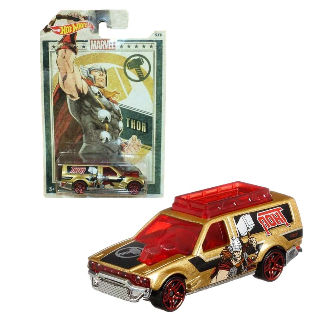 Thor Time Shifter 5/6 Hot Wheels Collect Them All