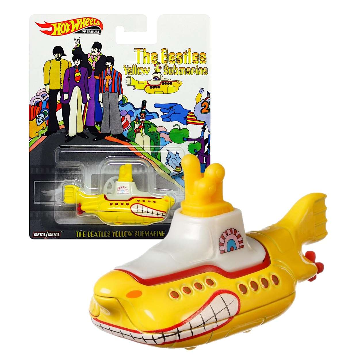 The Beatles Yellow Submarine Metal Real Riders Hot Wheels